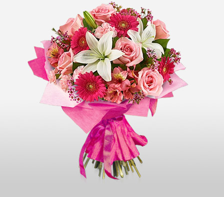 Send This Exotic Pink Flower Bunch From Bigwishbox To India