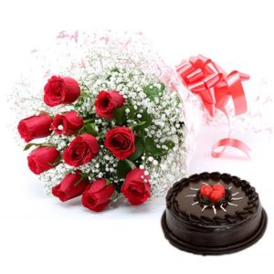 red-rose-with-cake_1