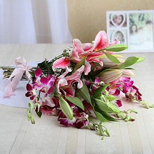 Alluring lillies and orchids