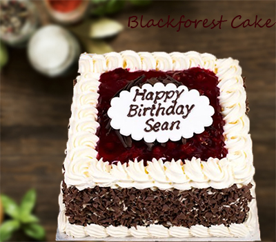 Yummy Square Shaped Black Forest Cake 1 Kg