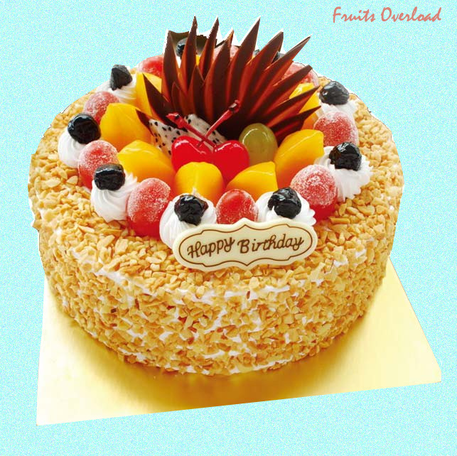 Admirable Fruit Cake 2 Kg Eggless Funny Birthday Cards Online Overcheapnameinfo