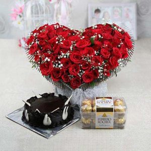 50-red-roses-bouquet-with-half-kg-chocolate-cake-and-ferrero-rocher-14511-m