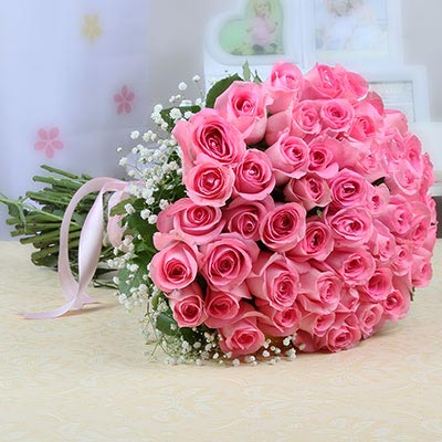 Bunch of 50 pink roses homeplatinumbunch of 50 pink roses platinum mightylinksfo